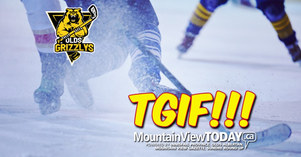 !TGIF Olds Grizzlies players