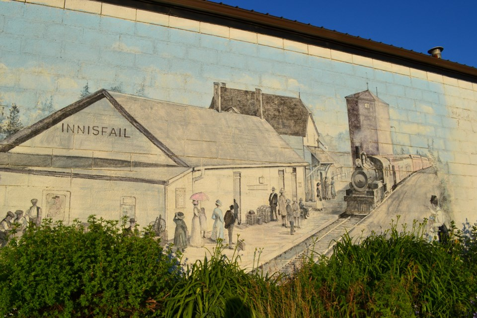 Destroyed Innisfail mural WEB