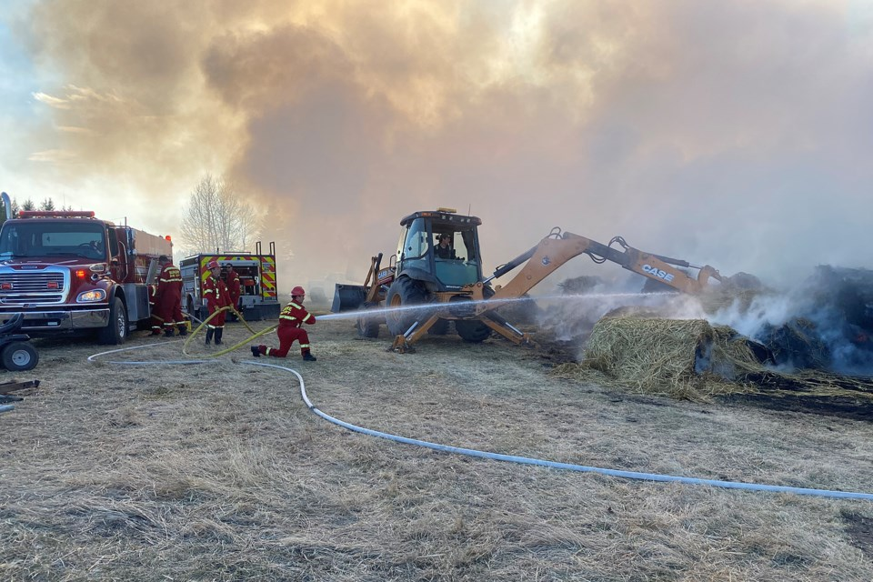 grass fire contained