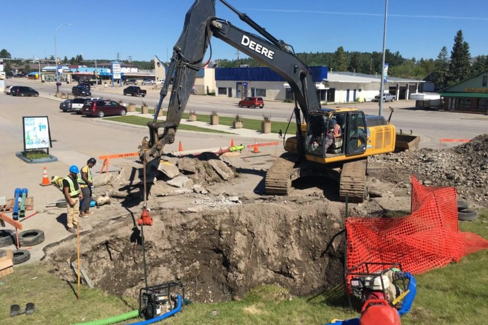 MVA excavation waterline repair