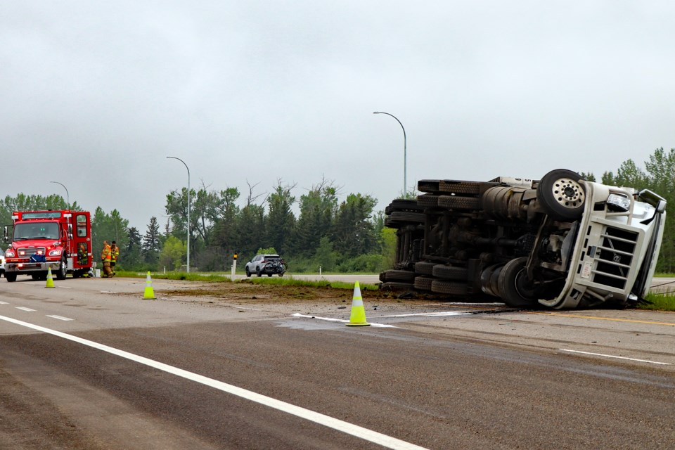 MVP Bowden truck accident 1