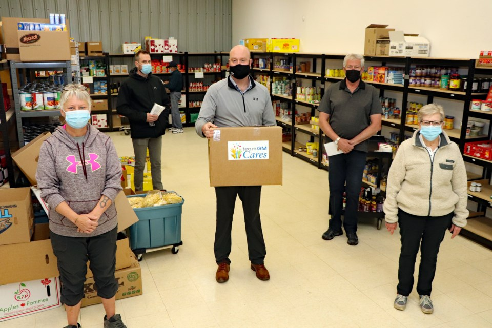 MVP Innisfail food bank mask donation 2021