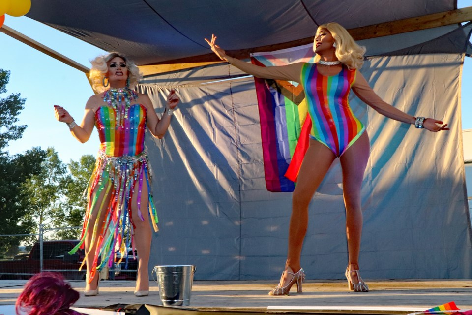 Attendees at Innisfail's Pride at the Cottage event on June 26 witnessed a lively and entertaining drag queen show for the first-ever Innisfail Pride Celebration, an all-day free event. Johnnie Bachusky/MVP Staff
