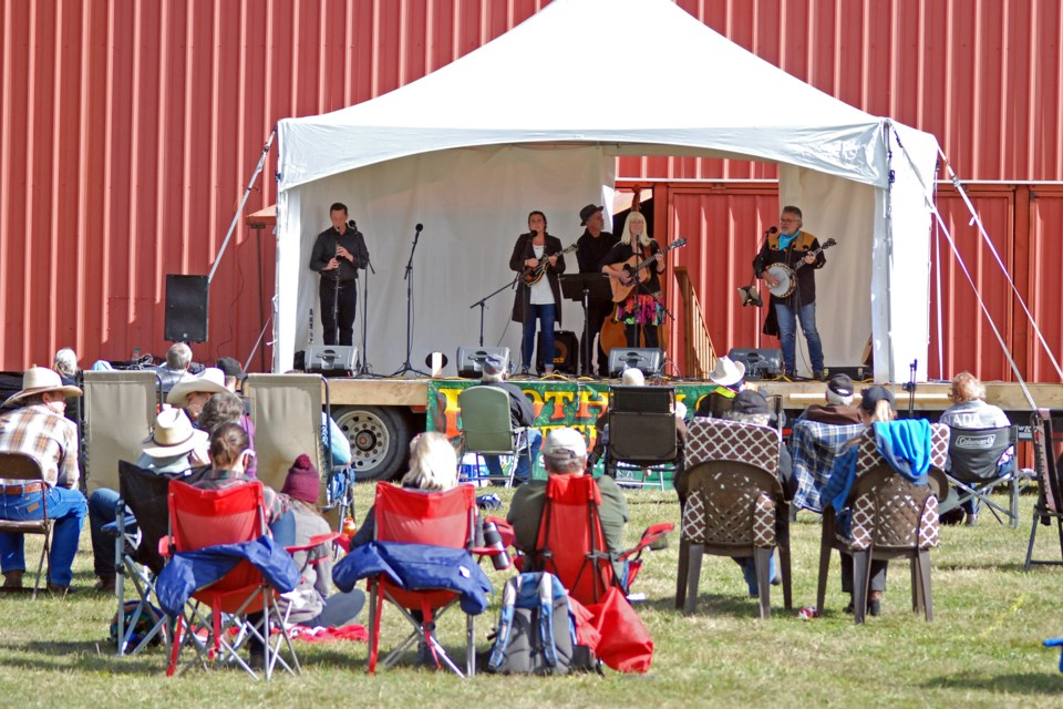 The full, three-day Shady Grove Bluegrass Music Festival is set to return to the Sundre Rodeo Grounds later this August following last year's one-day teaser called Taste of Shady Grove. Due to lingering COVID-19 restrictions limiting international travel, the lineup that would usually include at least one or two acts from the U.S. will feature only bands from B.C. and Alberta. However, with Stage 3 of the provincial government's economic relaunch strategy well underway, people won't have to wear masks or distance unless they so choose.    File photo/MVP Staff