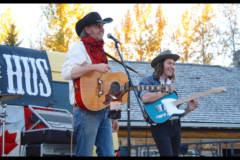 Country musician Tim Hus, left, and his four-piece band kicked off on the evening of Friday, Sept. 24 the celebration of Alberta Culture Days at the Sundre & District Museum with a well-attended outdoor performance.  Simon Ducatel/MVP Staff