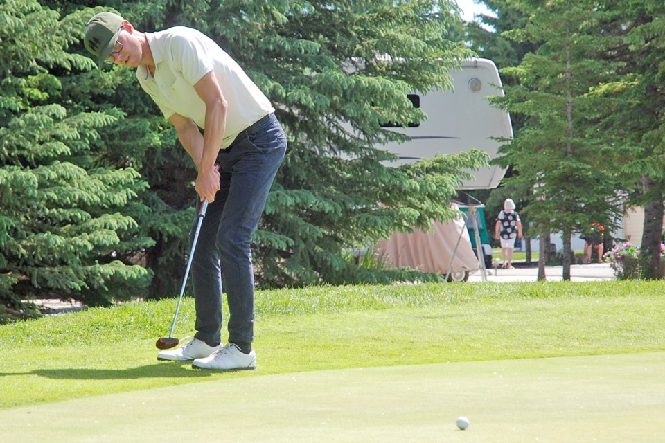 Former Sundre resident Ryan Swelin, who now lives in Calgary, was among the finalists competing in the 2020 Alberta Mens Mid Amateur Championship, which was Alberta Golf's first tournament of the season following the easing of COVID-19 lockdowns. He placed third overall.