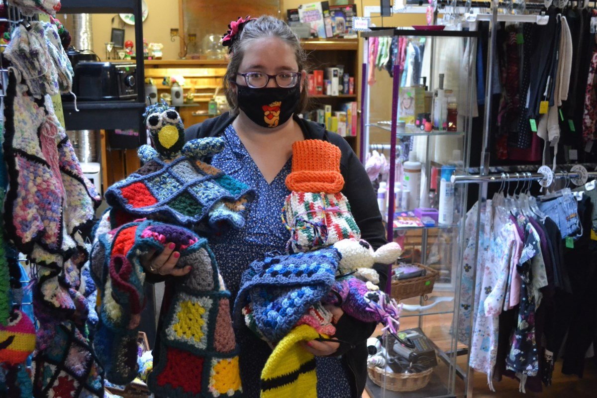 Crocheting sales take off at Olds thrift store