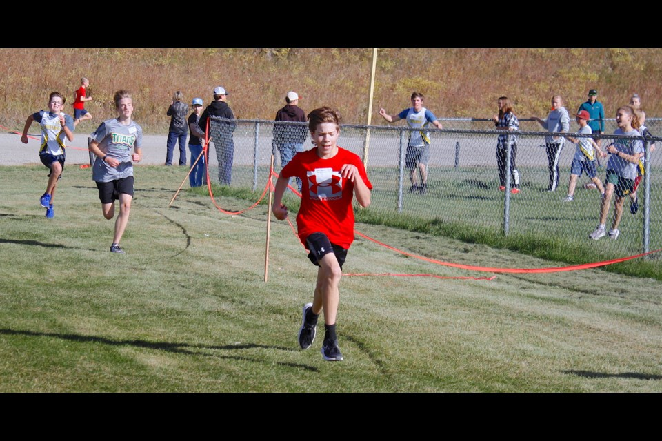 Organizers and athletes could not have hoped for much more favourable early fall weather conditions on Tuesday, Sept. 28 for a cross-country divisional meet hosted in Sundre as the sky was largely clear with an occasional breeze to help keep things cool.  Simon Ducatel/MVP Staff