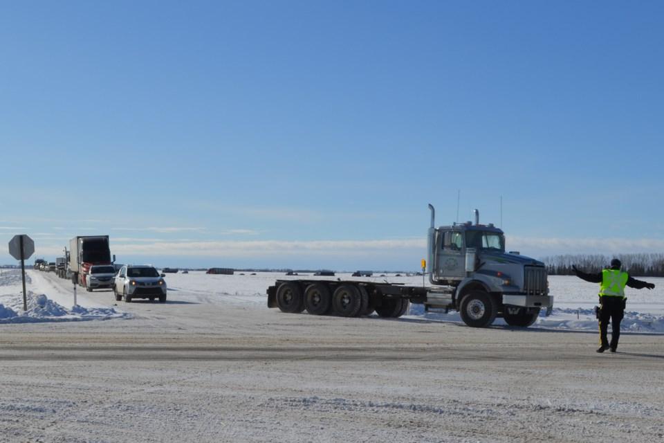 MVT Highway 2 collision traffic