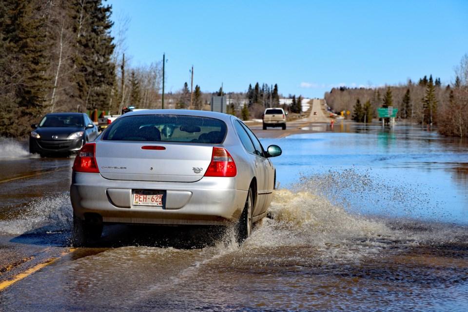 MVT Little Red Deer River flood 4 April 19 2020