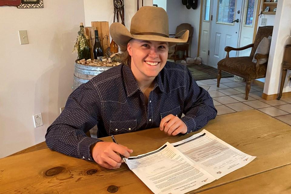 MVT Olds College rodeo Jaret Cooper