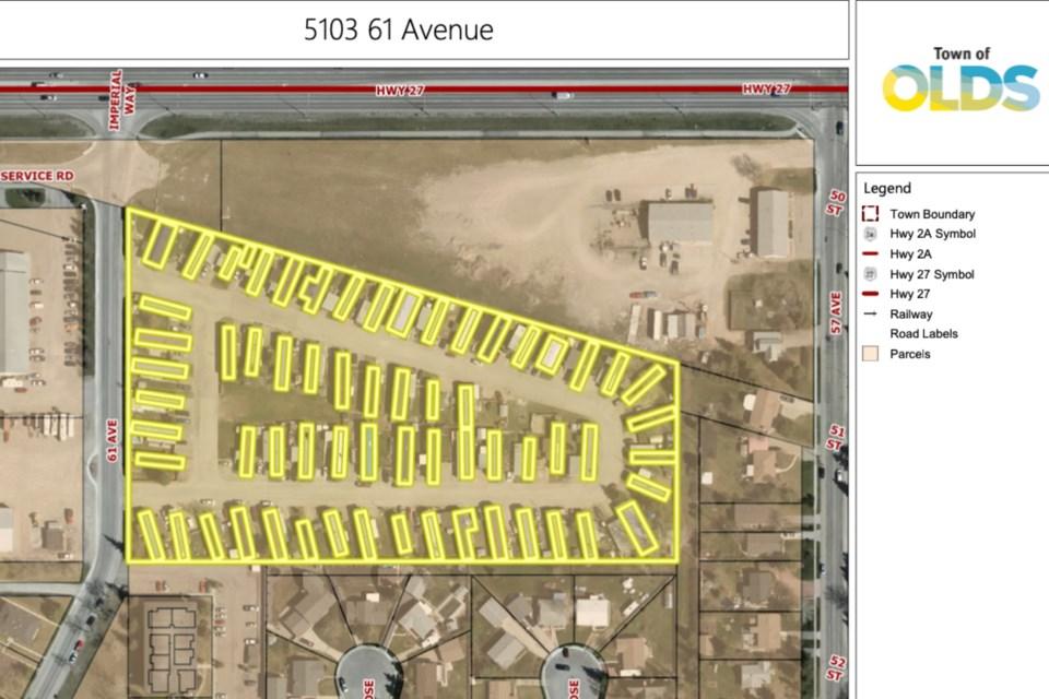 MVT Olds trailer park map