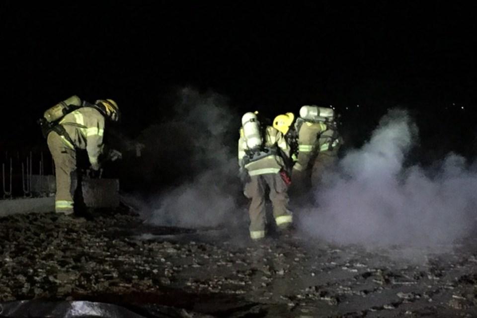 MVT Penhold construction fire