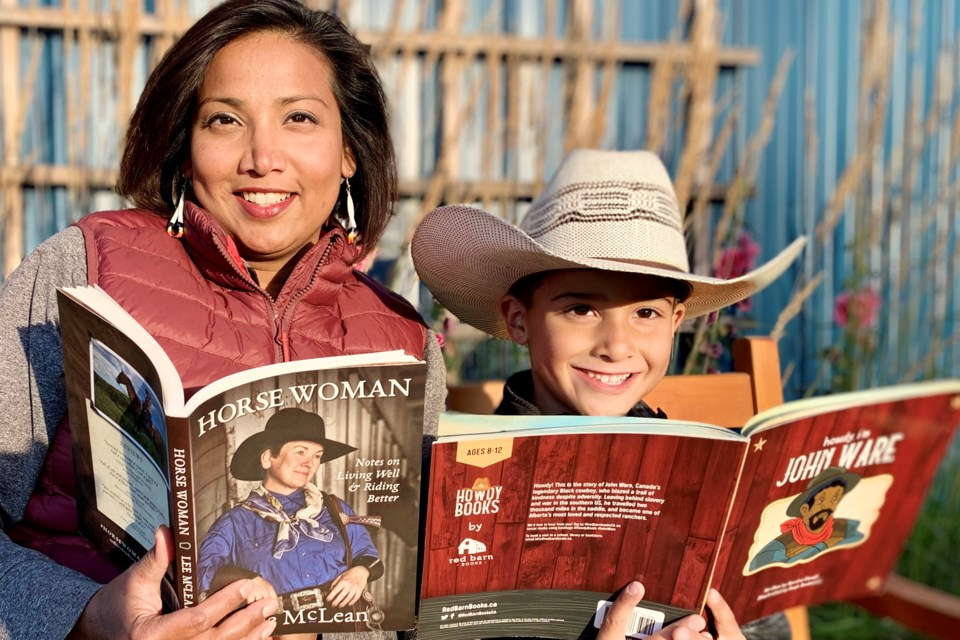 Previously a news reporter by trade, Carstairs-area resident Ayesha Clough, the founder of Red Barn Books, was inspired by her son Decker, 6, to become a publisher after having little to no success finding him children's books about Alberta's pioneer history.