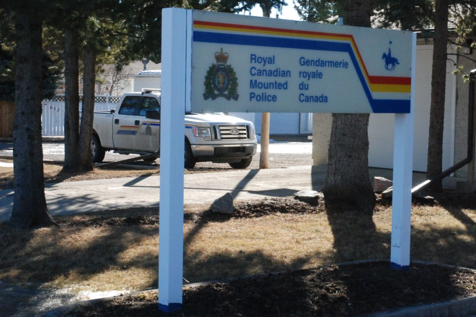 MVT stock Sundre RCMP sign