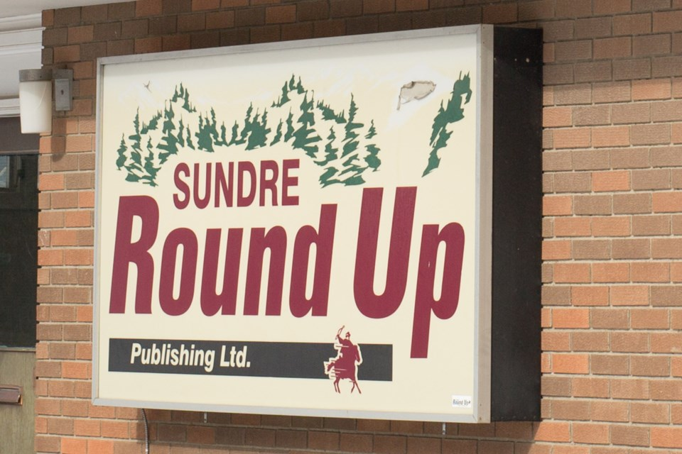 MVT Sundre Round Up sign