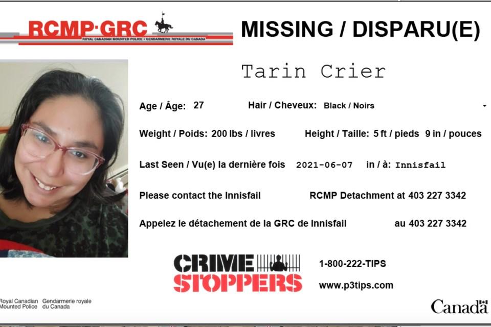 MVT Tarin Crier missing person