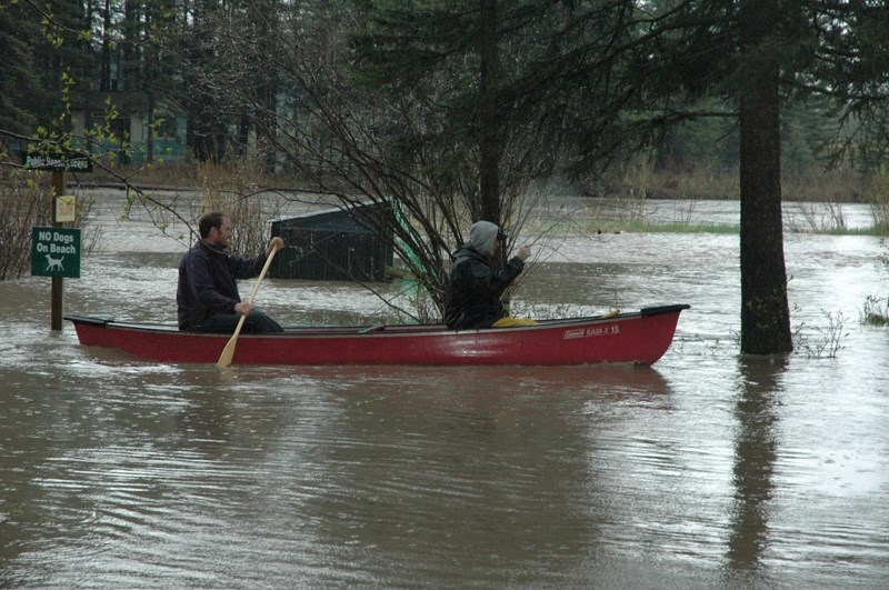 Flooding hit the Westward Ho campground Friday