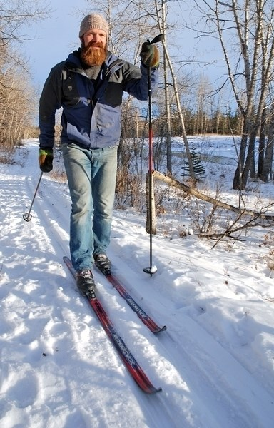 Sundre resident Keegan Smith, a member of the Sundre Bike n Ski Club, enjoyed the relative warm-up in weather last week — when the cold snap finally ended as chinook winds