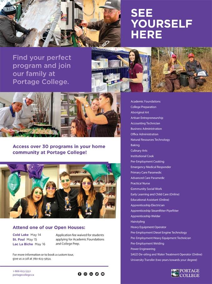 Portage College ad