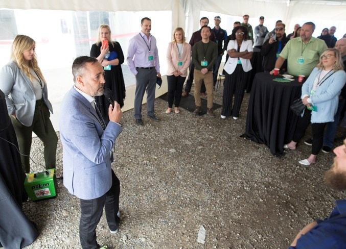 Candre Cannabis president and CEO Jesse Beaudry said during the opening ceremony the company is anticipating Health Canada's approval for a cultivation licence.