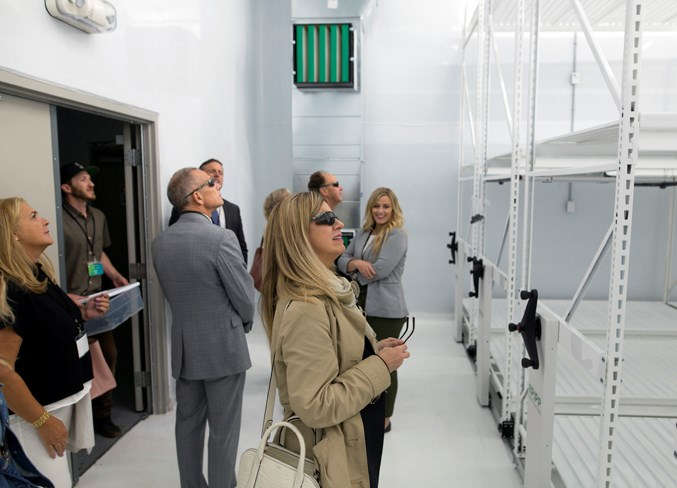 Sunglasses were made available upon request in the brightly lit grow rooms. As soon as Candre receives a cultivation licence from Health Canada, the company will be able to start its first test crops.