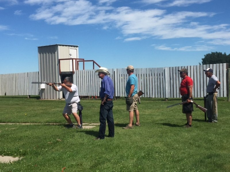 Shooters take part in the recent Western Canada Skeet Championships at Lone Pine Clay Target Club.