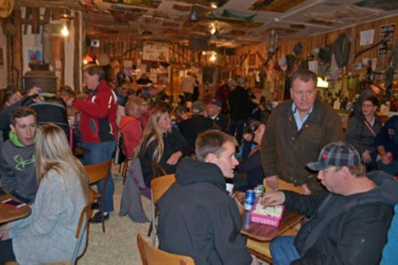 Pizza Night at Rowley's Sam Saloon can attract up to 150 people in the town that has only eight permanent residents.