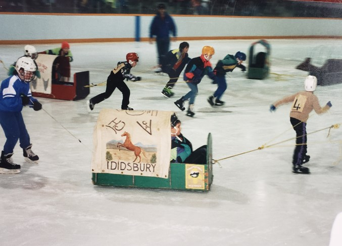 Youngsters take part in the Scouts Ice Stampede at the Didsbury Arena in 1993.