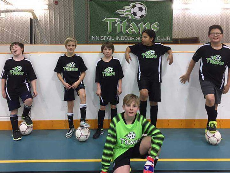 The Innisfail Titans indoor soccer club finished its season (March 10 ) in first place.