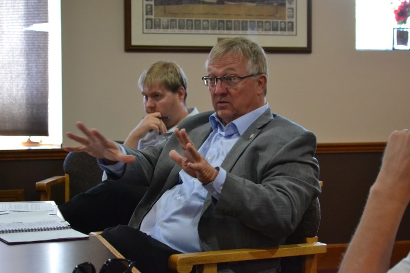 Red Deer-Mountain View MP Earl Dreeshen hosted a roundtable on proposed federal tax changes in the Dieppe Room of the Olds Legion.