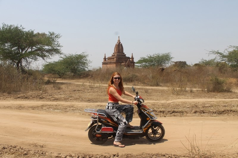 Ashley Anderson gives a big smile during a trip to Myanmar. Anderson is journeying to Africa in January to take on an internship in rural Tanzania.