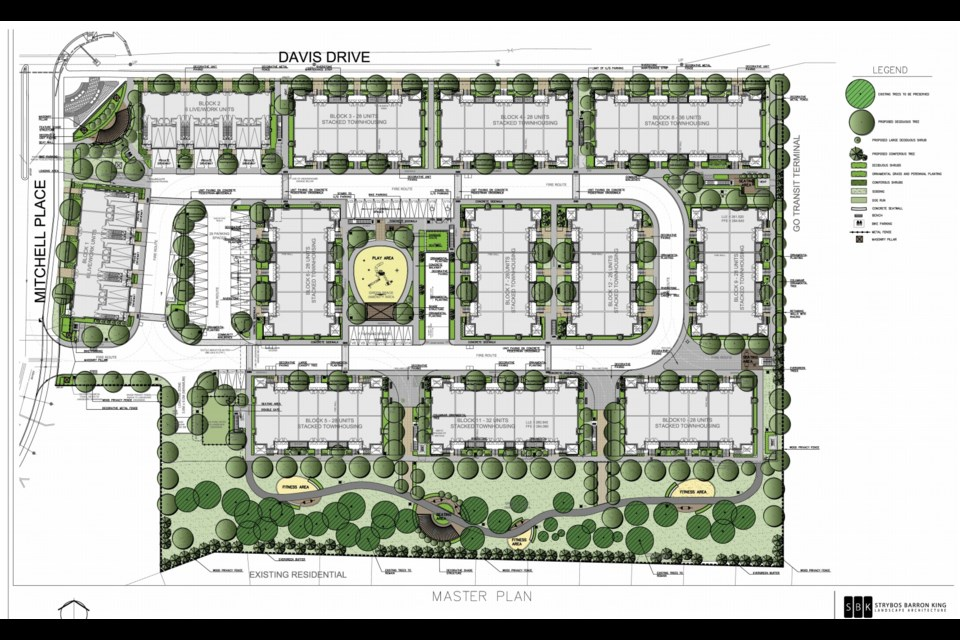 An illustration of the site plan for the new subdivision.