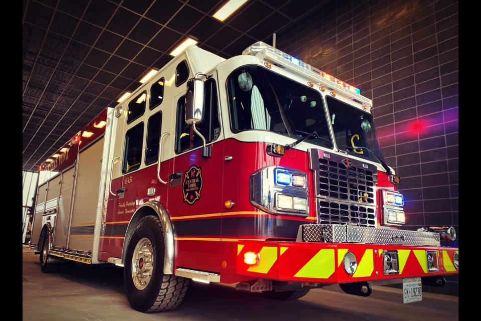 Central York Fire Service's new E451 firetruck has the SAM system installed.
