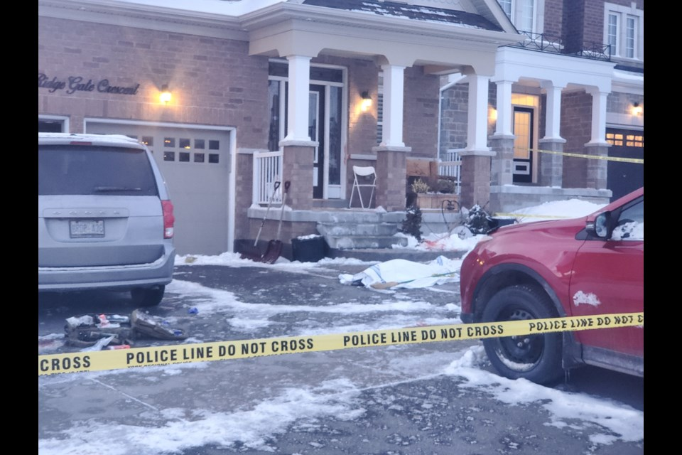 The house on Ridge Gate Crescent in Mount Albert where the stabbings occurred last February.