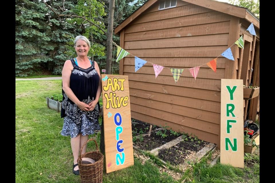 Suzanne Borduas is an art therapist and community garden volunteer. Debora Kelly/NewmarketToday