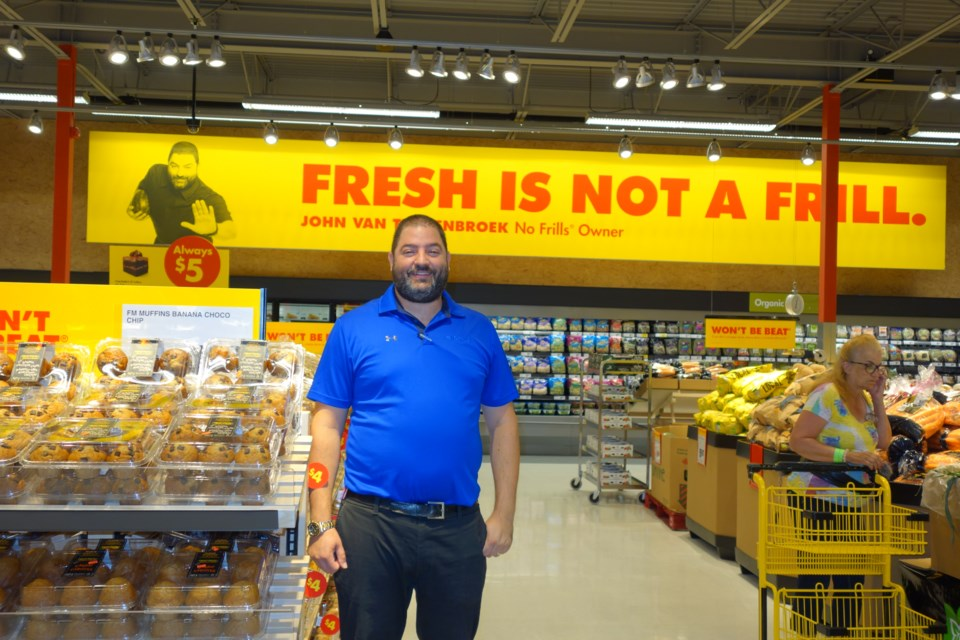John's No Frills franchise owner John van Teunenbroek is delighted to be returning to Newmarket to open his own store in the very plaza where he worked as a teenager.  Debora Kelly/NewmarketToday