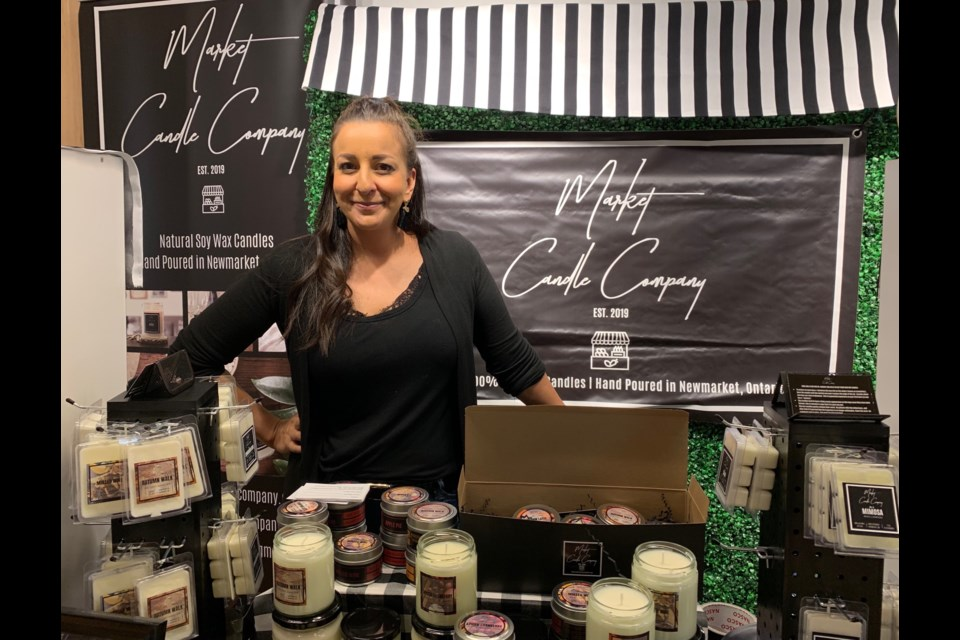 Newmarket's Shabi Monzavi is the owner and chief candle maker of Market Candle Company. Debora Kelly/NewmarketToday