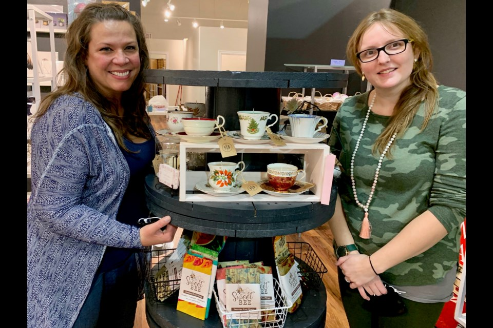 Erin Gooderham (left) and Meghan Larkin are co-owners of the newly opened Maker's Mark Artisan Boutique + Creative Workshop Space at 16655 Yonge St., units 19 and 20, in Newmarket. Debora Kelly for NewmarketToday