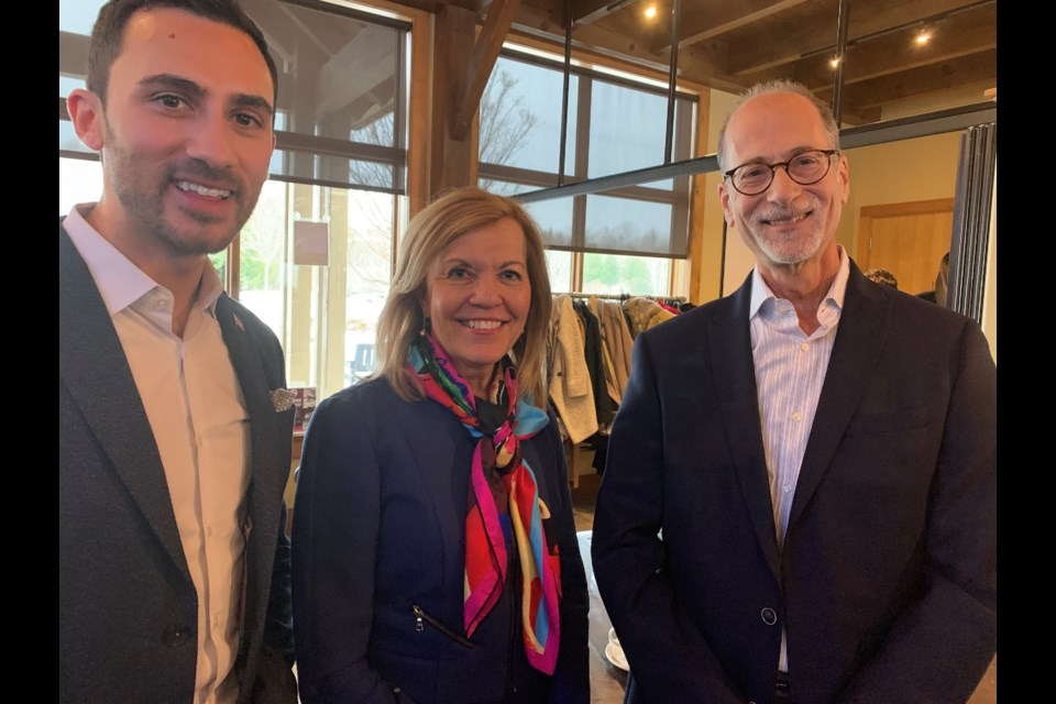 Education Minister Stephen Lecce, Health Minister and Newmarket-Aurora MPP Christine Elliott and Stephen Sinclair. Debora Kelly/NewmarketToday