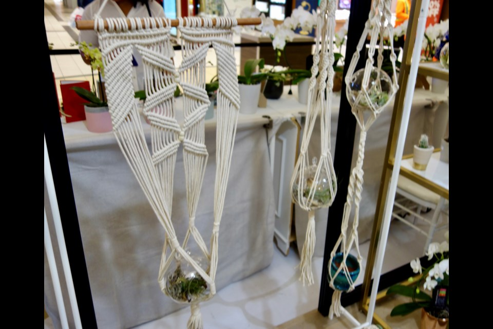 Macrame plant hangers and other thread-knotted crafts will be ready for creatoin at a unique Plamondon workshop next month.      Debora Kelly/NewmarketToday