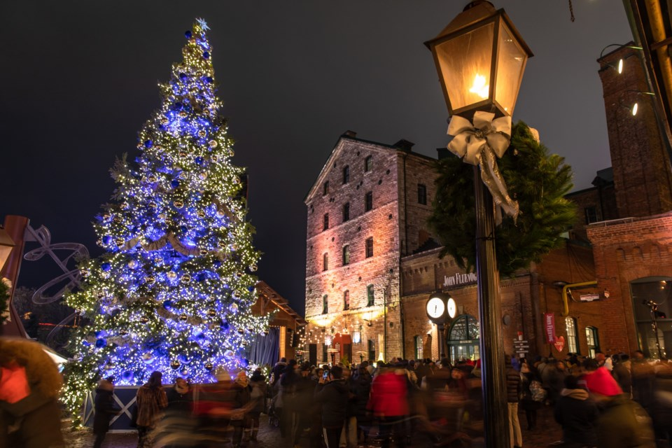 The iconic 50-foot Christmas tree is at the centre of the Toronto Christmas Market. Supplied photo/Laura Rossi for Toronto Christmas Market