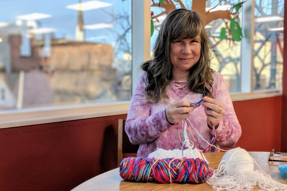 Sarah Alexander founded Chase the Chill Newmarket to help keep warm those in need over the winter with hand-knitted hats, scarves and mittens. Kim Champion/NewmarketToday