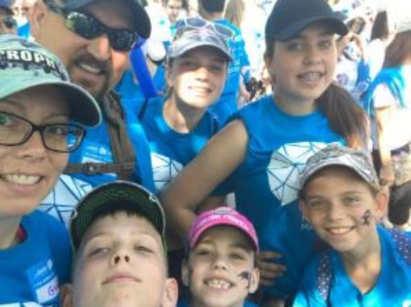 The Alzheimer Society of York Region's Honorary Family, the Schoenrocks, will be taking part in Saturday's fundraising walk. Supplied photo/Lorie Schoenrock