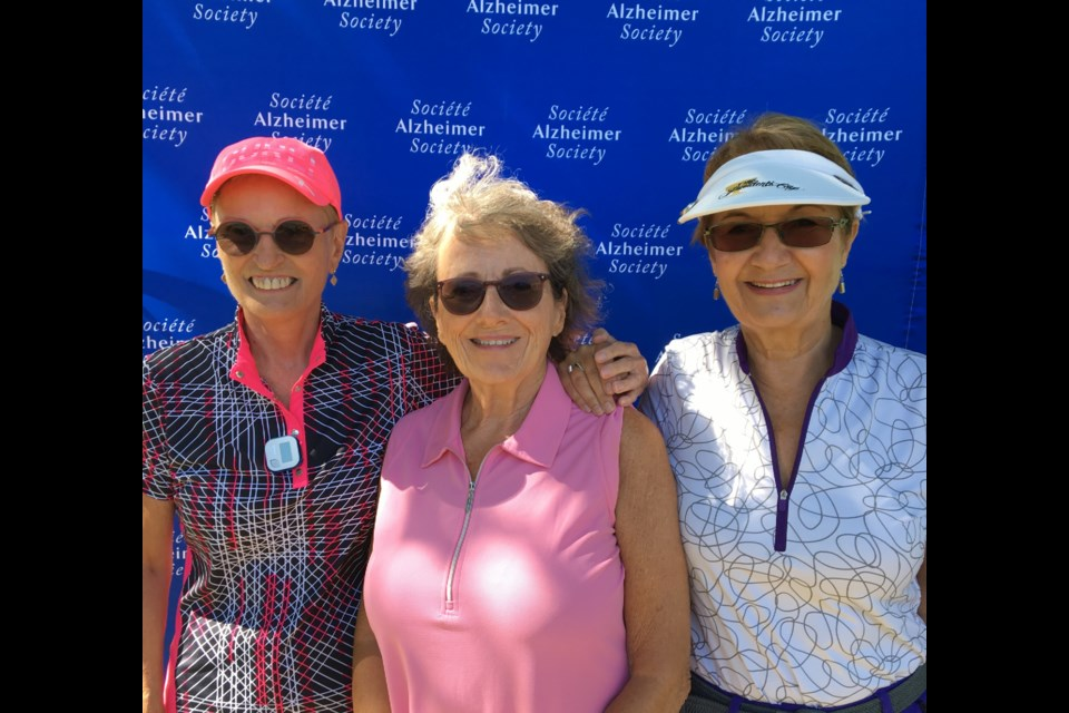 Jane Simard, Tara Morse and Betsy Sumner are the founders the annual Golf 2 Remember tournament. Supplied photo/Lisa Day for Alzheimer Society of York Region