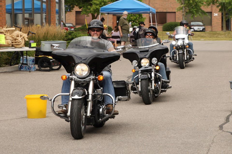 The One Eyed Jacks MC Charity Poker Run and Show & Shine, sponsored by Black Gold Knife & Leather Co., was held Sunday, Aug. 18 in Newmarket, with the entry donation fee going to Southlake Regional Health Centre's pediatric oncology centre. Greg King for NewmarketToday