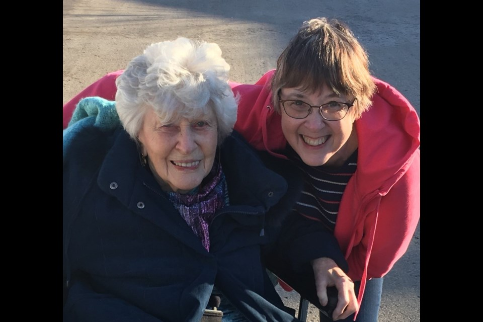 Deb Jay Thomas wrote about her mother, Wilda May Scott, in the Alzheimer Society of York Region's book, Hearts Linked by Courage.