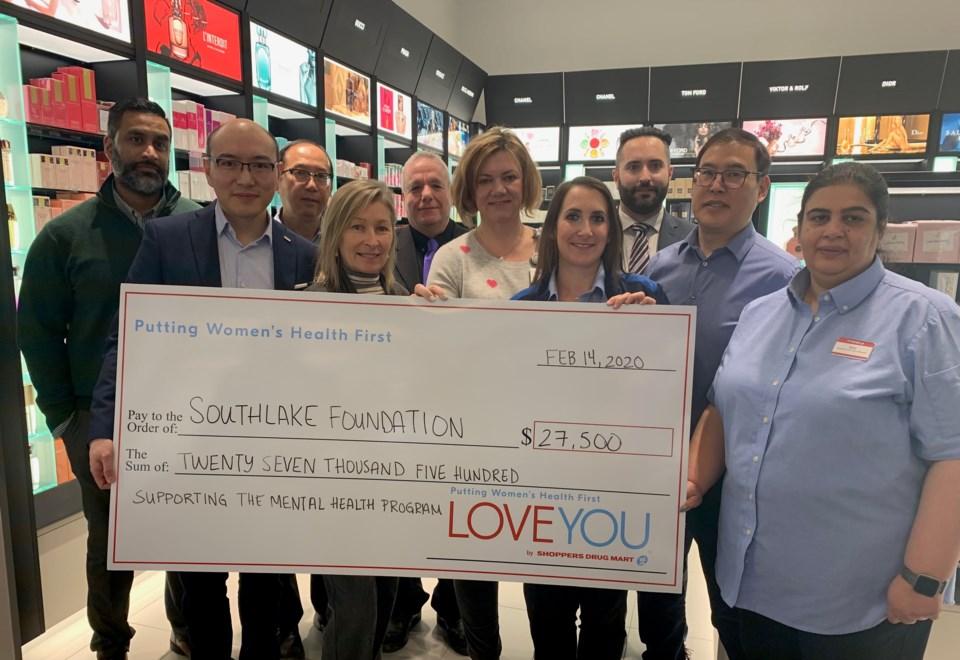 2020 02 14 Shoppers donates to Southlake DK