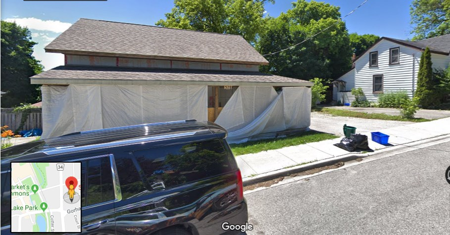 A Newmarket couple have applied for an exemption under the Town of Newmarket's temporary building ban to demolish and build a new home on Lydia Street. Google Map photo