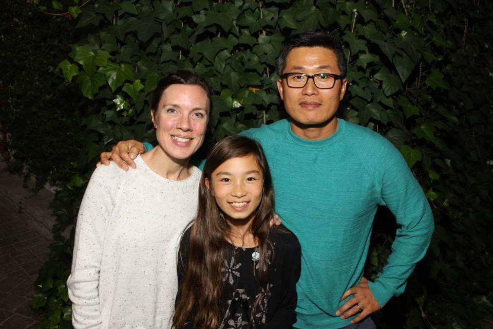 Nari Hwang, a Grade 6 student at Shanty Bay Public School, is shown with her mother, Jennica, and father, Bo. Greg King for NewmarketToday